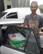 donated food to Paul