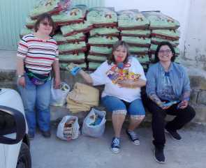 donated food to AID by Bibi